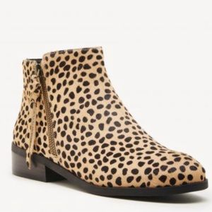 NWOT Sole Society Abbott Calf Hair Booties Cheetah